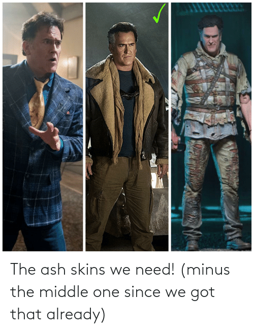 The Middle: The ash skins we need! (minus the middle one since we got that already)