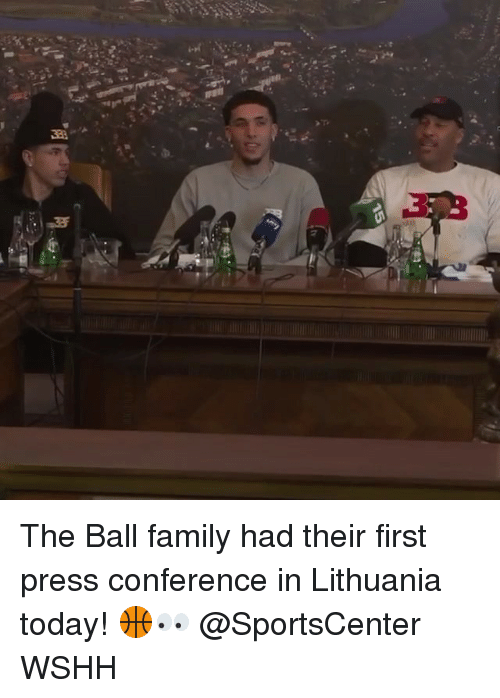 Lithuania: The Ball family had their first press conference in Lithuania today! 🏀👀 @SportsCenter WSHH