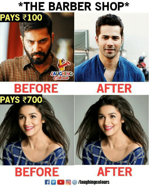 Barber Shop: *THE BARBER SHOP*  PAYS 100  LAUGHING  BEFORE  PAYS 700  AFTER  BEFORE  AFTER