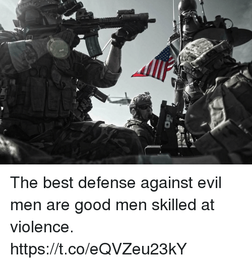 Memes, Best, and Good: The best defense against evil men are good men skilled at violence. https://t.co/eQVZeu23kY
