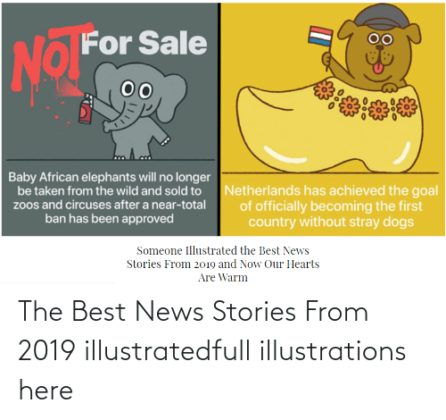 Hearts:   The Best News Stories From 2019 illustratedfull illustrations here