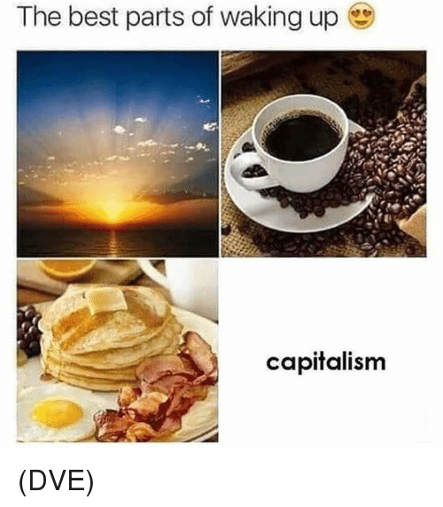 Memes, Best, and Capitalism: The best parts of waking up  capitalism (DVE)