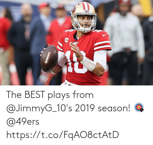 San Francisco 49ers: The BEST plays from @JimmyG_10's 2019 season! 🎯 @49ers https://t.co/FqAO8ctAtD