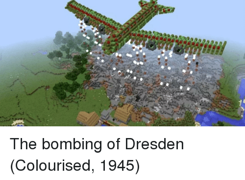 bombing: The bombing of Dresden (Colourised, 1945)