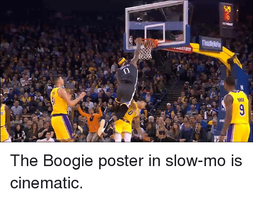 Boogie, Slow, and Slow Mo: The Boogie poster in slow-mo is cinematic.