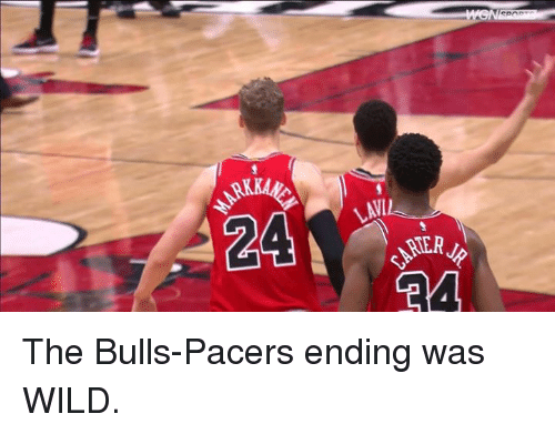 Bulls, Wild, and Pacers: The Bulls-Pacers ending was WILD.
