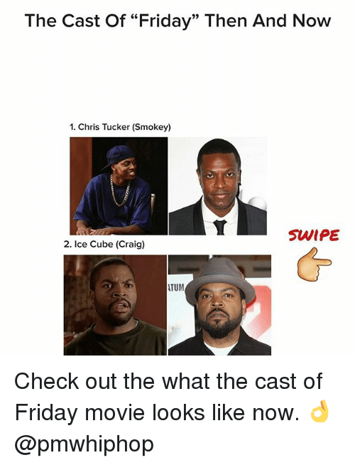 """Chris Tucker, Friday, and Ice Cube: The Cast of """"Friday"""" Then And Now  1. Chris Tucker (Smokey)  SWIPE  2. Ice Cube (Craig)  ATUM Check out the what the cast of Friday movie looks like now. 👌 @pmwhiphop"""