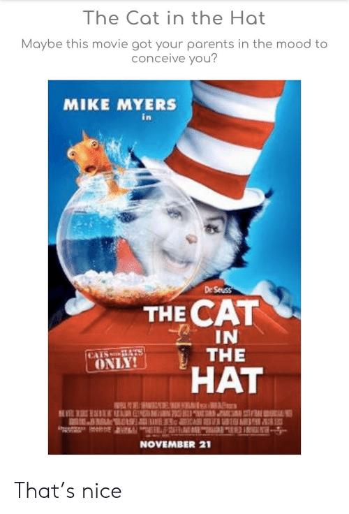 1ef22f08 Mike Myers, Mood, and Parents: The Cat in the Hat Maybe this movie