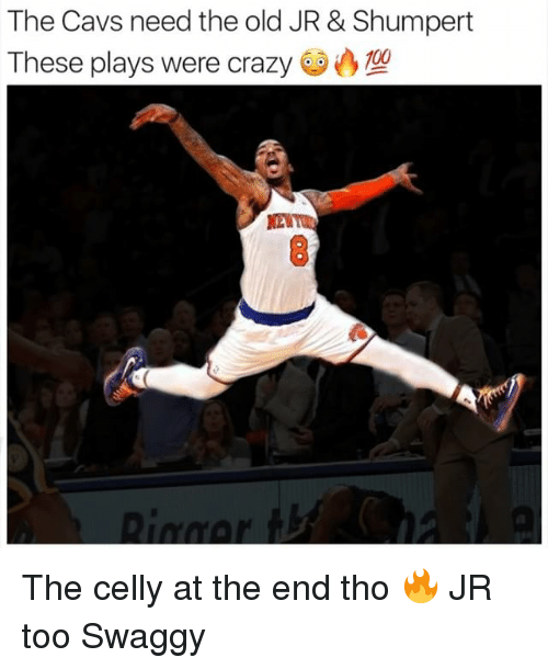 Swaggy: The Cavs need the old JR & Shumpert  These plays were crazy The celly at the end tho 🔥 JR too Swaggy