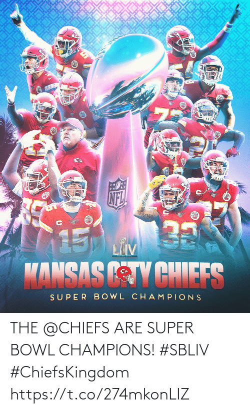 Super Bowl: THE @CHIEFS ARE SUPER BOWL CHAMPIONS! #SBLIV #ChiefsKingdom https://t.co/274mkonLIZ