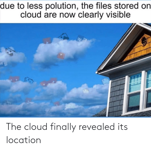 Revealed: The cloud finally revealed its location
