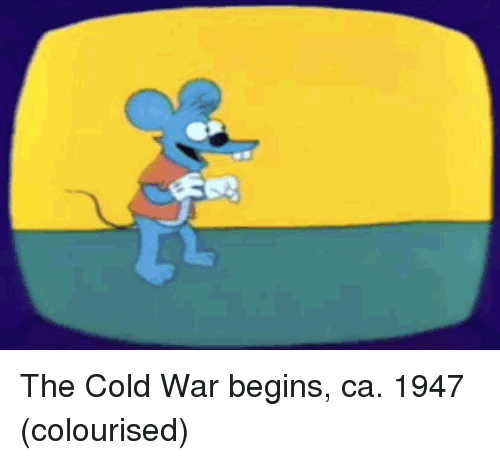 Cold, Cold War, and War: The Cold War begins, ca. 1947 (colourised)
