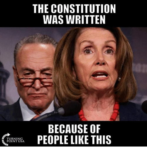Memes, Constitution, and 🤖: THE CONSTITUTION  WAS WRITTEN  BECAUSE OF  PEOPLE LIKE THIS  TURNING  POINT USA
