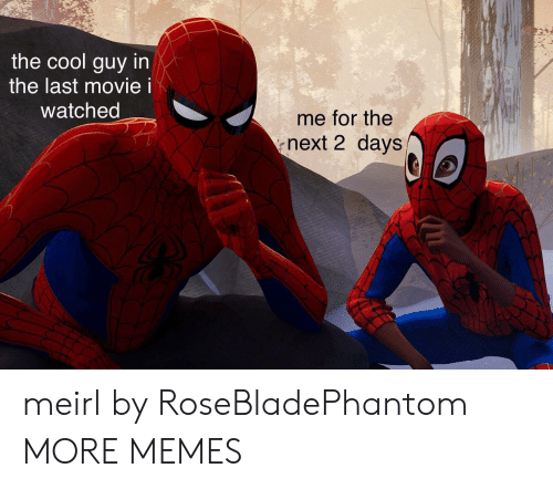 Dank, Memes, and Target: the cool guy in  the last movie i  watched  me for the  next 2 days meirl by RoseBladePhantom MORE MEMES