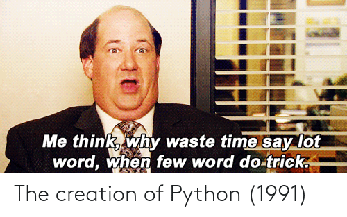 python: The creation of Python (1991)