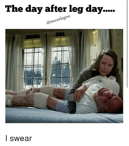 Day After Leg Day: The day after leg day.  Camaceelegree I swear