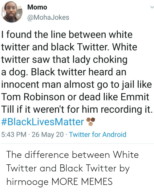 White: The difference between White Twitter and Black Twitter by hirmooge MORE MEMES