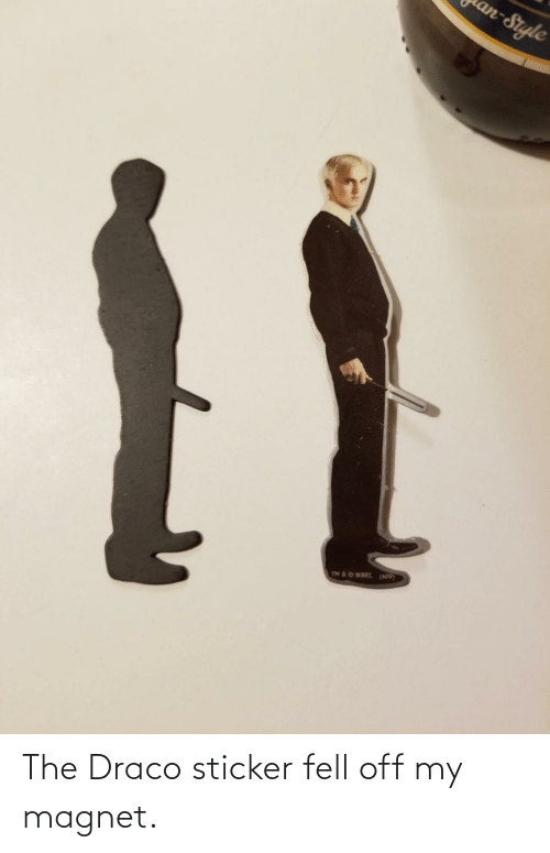 Sticker: The Draco sticker fell off my magnet.