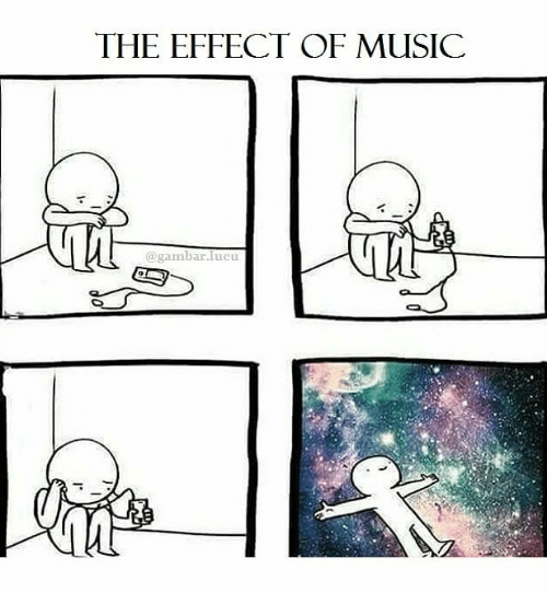 Gambar: THE EFFECT OF MUSIC  @gambar.lucu