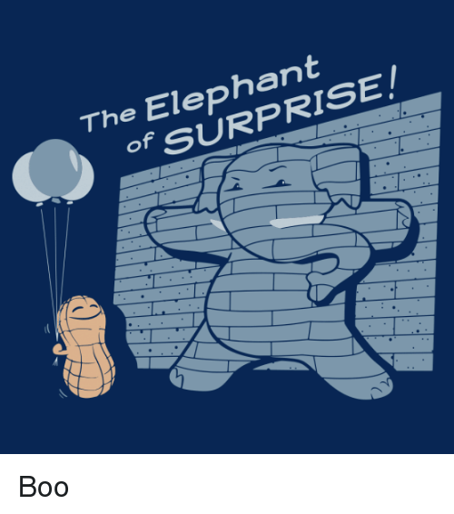 Boo, Elephant, and Punny: The Elephant  OF SURPRISE Boo