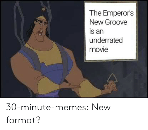 Emperor's New Groove, Memes, and Tumblr: The Emperor's  New Groove  is an  underrated  movie 30-minute-memes:  New format?