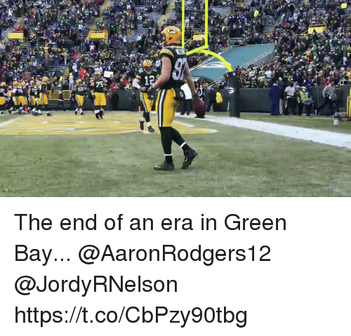 Memes, 🤖, and Green Bay: The end of an era in Green Bay...  @AaronRodgers12 @JordyRNelson https://t.co/CbPzy90tbg