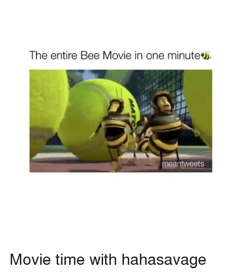 mean tweets: The entire Bee Movie in one minute  mean tweets Movie time with hahasavage