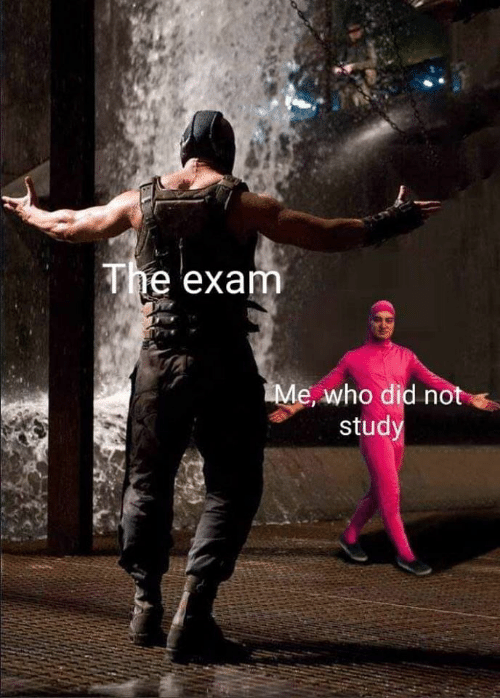 study: The exam  Me, who did not  study