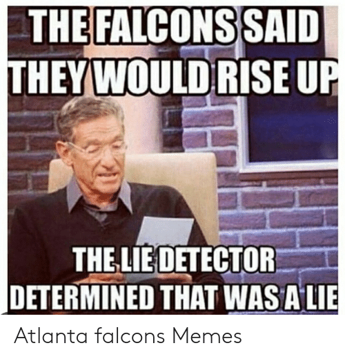 Atlanta Falcons Memes: THE FALCONSSAID  THEYWOULDRISE U  THE LIE DETECTOR  DETERMINED THAT WASAI Atlanta falcons Memes