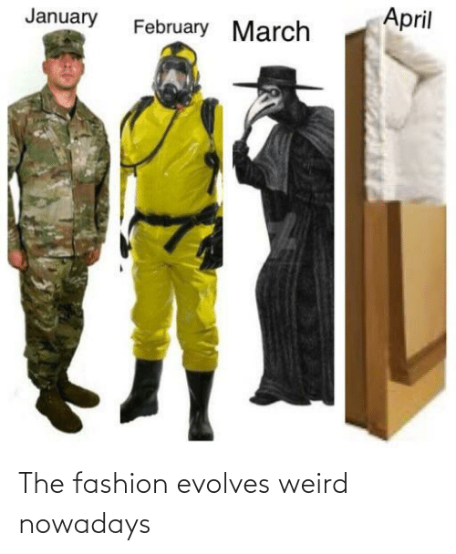 nowadays: The fashion evolves weird nowadays