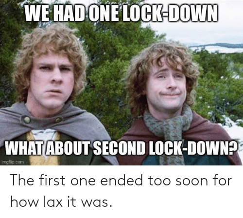 Soon...: The first one ended too soon for how lax it was.