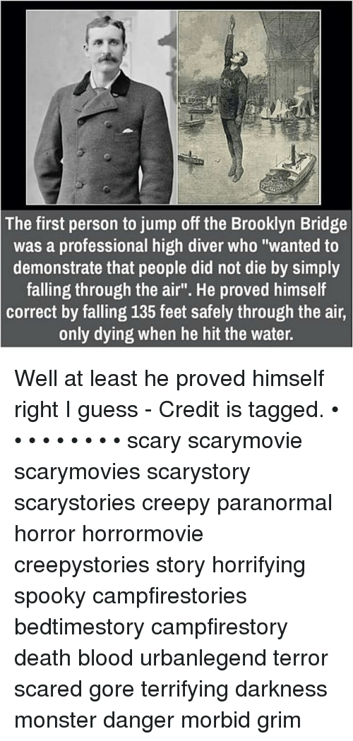 The First Person to Jump Off the Brooklyn Bridge Was a Professional