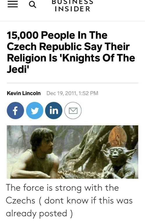Force Is Strong: The force is strong with the Czechs ( dont know if this was already posted )