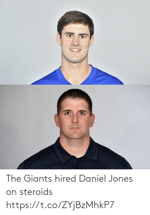 jones: The Giants hired Daniel Jones on steroids https://t.co/ZYjBzMhkP7