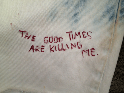 Times, Goo, and  Killing Me: THE GOO TIMES  ARE KILLING  ME.