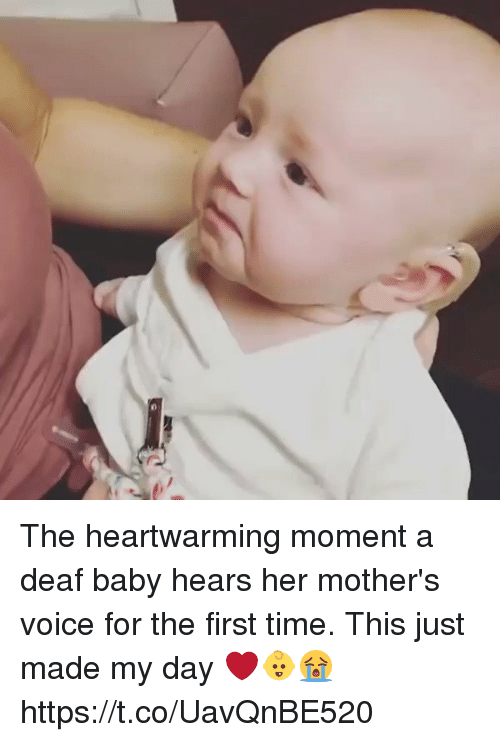 Memes, Time, and Voice: The heartwarming moment a deaf baby hears her mother's voice for the first time. This just  made my day ❤️👶😭 https://t.co/UavQnBE520