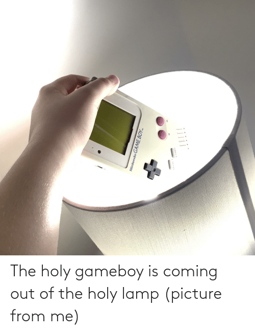 Coming Out: The holy gameboy is coming out of the holy lamp (picture from me)