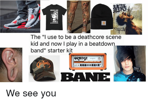"Memes, Starter Kit, and 🤖: The ""I use to be a deathcore scene  kid and now I play in a beatdown.  band"" starter kit  BRANE We see you"