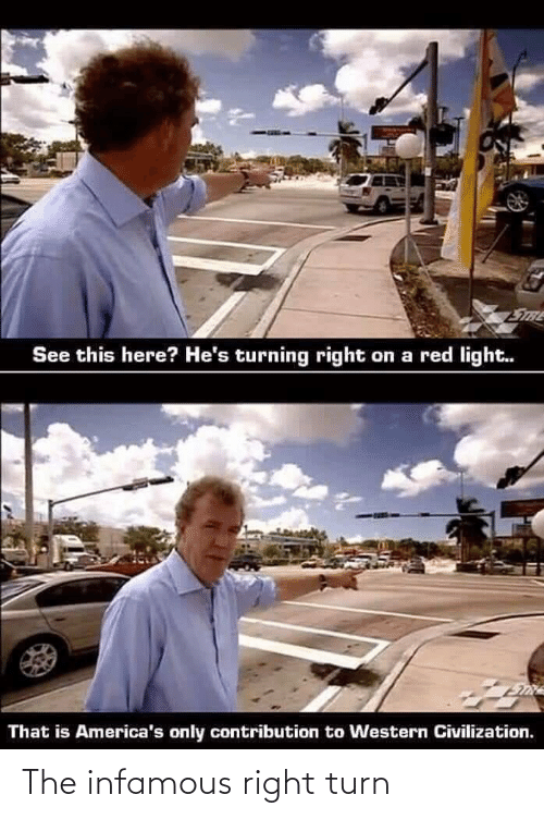 right: The infamous right turn