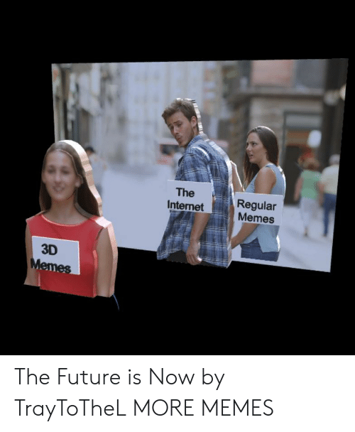Dank, Future, and Internet: The  Internet  Regular  Memes  3D The Future is Now by TrayToTheL MORE MEMES