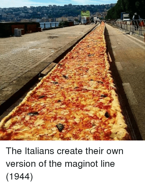 Create, Own, and Italians: The Italians create their own version of the maginot line (1944)