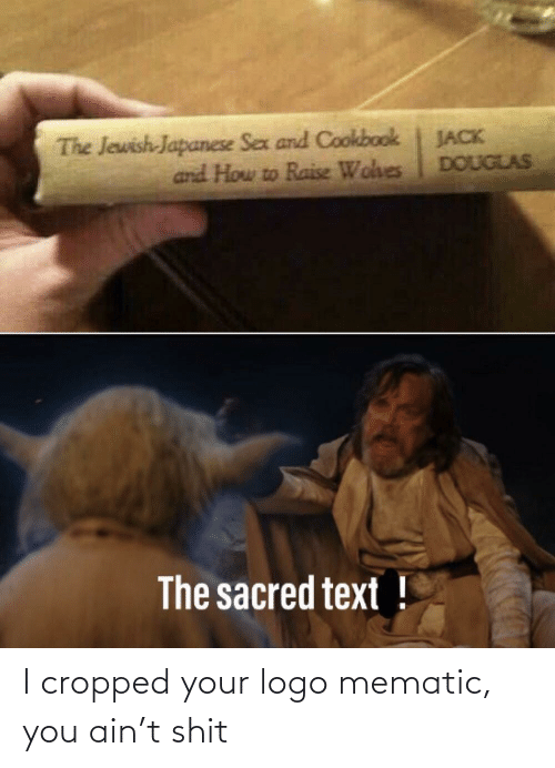 And How: The Jewish-Japanese Sex and Cookbook  and How to Raise Wohes  JACK  DOUGLAS  The sacred text ! I cropped your logo mematic, you ain't shit