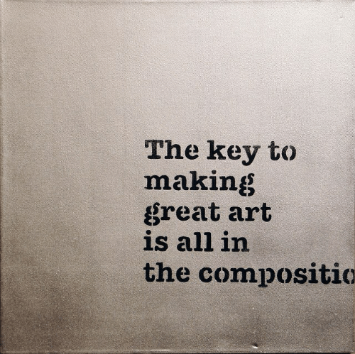 Art, Key, and All: The key to  making  great art  is all irn  the compositio
