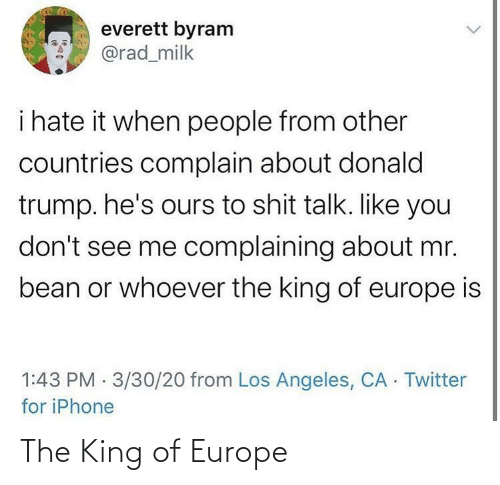 Europe: The King of Europe