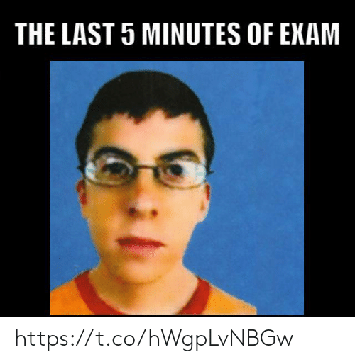 Exam, 5 Minutes, and  Minutes: THE LAST 5 MINUTES OF EXAM https://t.co/hWgpLvNBGw