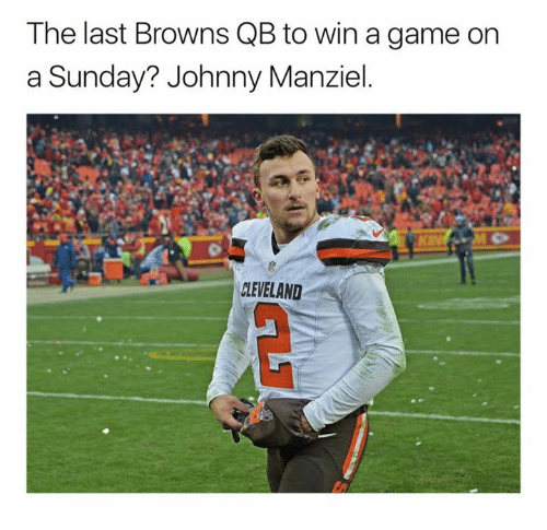 Johnny Manziel, Nfl, and Browns: The last Browns QB to win a game on  a Sunday? Johnny Manziel.  CLEVELAND