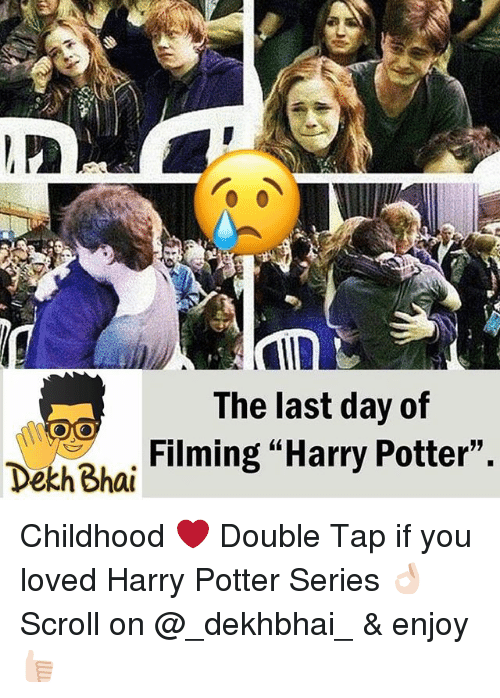 """Harry Potter (Series): The last day of  Filming """"Harry Potter"""",  Dekh Bhai Childhood ❤️ Double Tap if you loved Harry Potter Series 👌🏻 Scroll on @_dekhbhai_ & enjoy 👍🏻"""