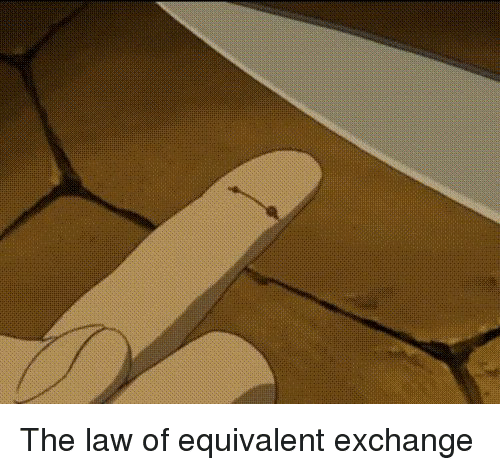 Funny, Law, and Equivalent Exchange: The law of equivalent exchange