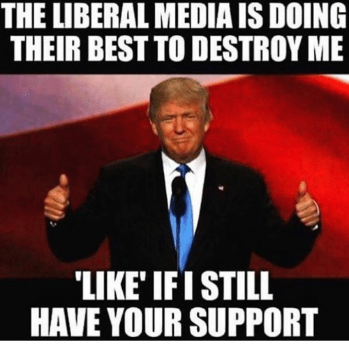 Best, Media, and Liberal: THE LIBERAL MEDIA ISDOING  THEIR BEST TO DESTROY ME  LIKE IFISTILL