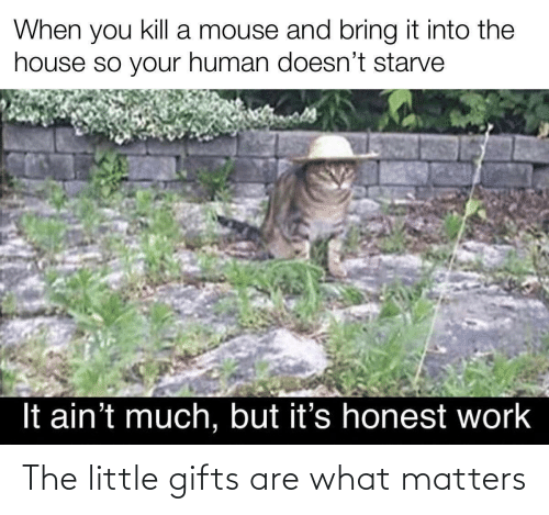 Are: The little gifts are what matters
